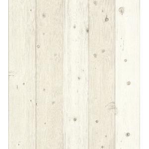 はじめての輸入壁紙DIYセット ドイツrasch(ラッシュ) 木目 板張り アイボリー 白 フェイク 664539 クロス DIY rasch2019 はがせる|decoall