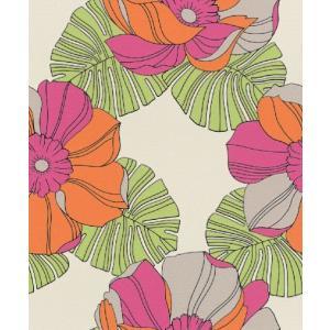 はじめての輸入壁紙DIYセット ドイツrasch(ラッシュ) 花 モンステラ カラフル レトロポップ 804911 クロス DIY rasch2019 はがせる|decoall
