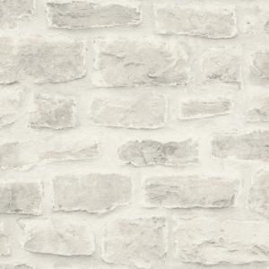 はじめての輸入壁紙DIYセット ドイツrasch(ラッシュ) ホワイト 白 レンガ柄 860603 クロス DIY rasch2019|decoall