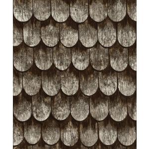 はじめての輸入壁紙DIYセット ドイツrasch(ラッシュ) 鱗屋根 うろこ 屋根 茶色 木 860702 クロス DIY rasch2019 はがせる|decoall