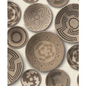 はじめての輸入壁紙DIYセット ドイツrasch(ラッシュ) ルワンダバスケット かご 茶 フェイク 862003 クロス DIY rasch2019 はがせる|decoall