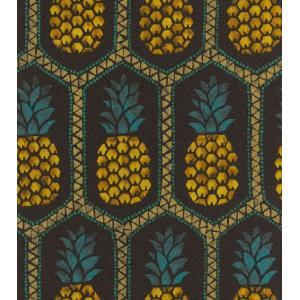 はじめての輸入壁紙DIYセット ドイツrasch(ラッシュ) パイナップル ハワイアン 黒 果物 862140 クロス DIY rasch2019 はがせる|decoall