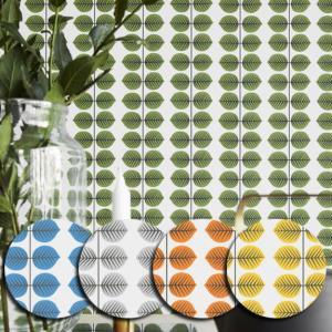 輸入壁紙 SBT-1750 グリーン 葉っぱ スティグ・リンドベリ BERSA ベルサ スウェーデン クロス 10m|decoall