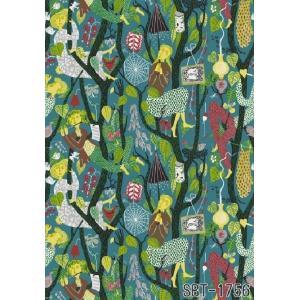 輸入壁紙 SBT-1756 ターコイズグリーン 人 絵画 スティグ・リンドベリ MELODI スウェーデン クロス 10m|decoall