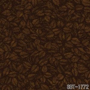 輸入壁紙 SBT-1772  ブラウン ブラック 葉っぱ VIOLA GRASTEN AMORINA スウェーデン クロス 10m|decoall