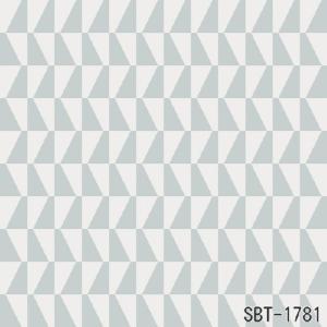 輸入壁紙 SBT-1780 ブルーグレー ホワイト 幾何学 ARNEJACOBSEN TRAPEZ スウェーデン クロス 10m|decoall