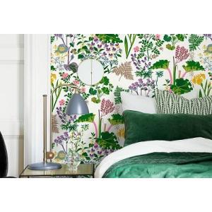 輸入壁紙 SBT-1792 カラフル ホワイト 草花 GOCKENJOBS ABARBER スウェーデン クロス 10m|decoall