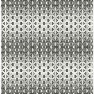輸入壁紙 TECIDO(テシード) 幾何学柄 Horizontal Bars ブラック|decoall