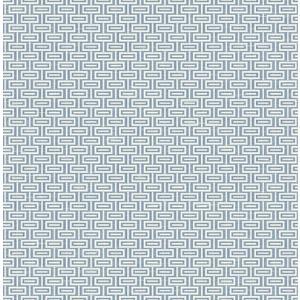 輸入壁紙 TECIDO(テシード) 幾何学柄 Horizontal Bars ブルー|decoall