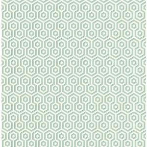 輸入壁紙 TECIDO(テシード) 幾何学柄 ヘキサゴン(Hexagons ) ブルー|decoall