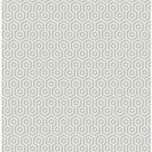 輸入壁紙 TECIDO(テシード) 幾何学柄 ヘキサゴン(Hexagons ) グレー|decoall