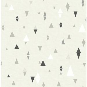 輸入壁紙 TECIDO(テシード) 三角柄 Triangles ブラック|decoall