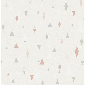輸入壁紙 TECIDO(テシード) 三角柄 Triangles グレー×ピンク|decoall