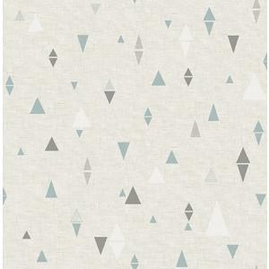輸入壁紙 TECIDO(テシード) 三角柄 Triangles グレー×ブルー|decoall
