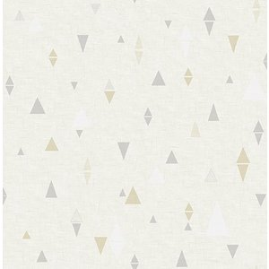 輸入壁紙 TECIDO(テシード) 三角柄 Triangles グレー×ベージュ|decoall