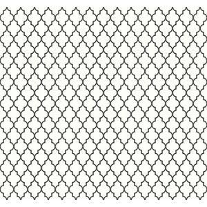 輸入壁紙 TECIDO(テシード) 幾何学柄 Lattice モノトーン(白黒)|decoall