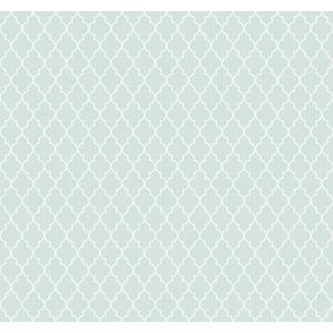 輸入壁紙 TECIDO(テシード) 幾何学柄 Lattice ブルー|decoall