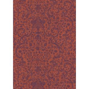 輸入壁紙  ESPOIR NEW AGE  国内在庫 SIGN81973102 ダマスク レース オレンジ インディゴ モダン CASAMANCE テシード DIY |decoall