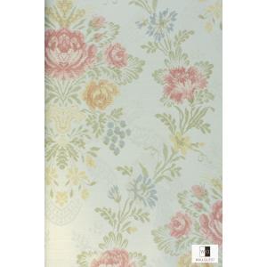 輸入壁紙 アンティーク花柄ライトブルー TS70311|decoall