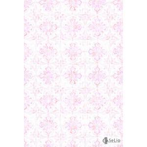 輸入壁紙 TECIDO GRIS GRIS シャビーシックタイル柄ピンク VEI65734007|decoall