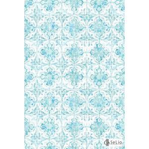 輸入壁紙 TECIDO GRIS GRIS シャビーシックタイル柄ブルー VEI65736006|decoall