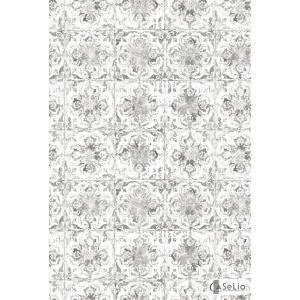 輸入壁紙 TECIDO GRIS GRIS シャビーシックタイル柄ブラック VEI65739094|decoall