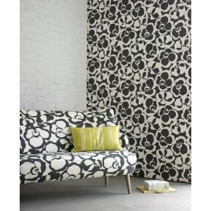 輸入壁紙 VILLA NOVA Makela Mono Wallpaper Onyx 花柄 ブラック W530/03 クロス DIY 賃貸OK 貼ってはがせる decoall
