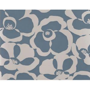 輸入壁紙 VILLA NOVA Makela Mono Wallpaper Chambray 花柄 ブルー W530/05 クロス DIY 賃貸OK 貼ってはがせる decoall