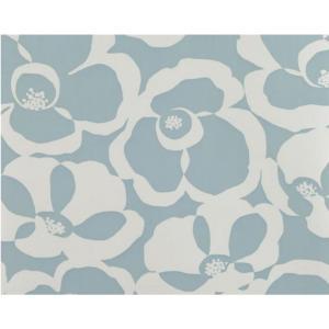 輸入壁紙 VILLA NOVA Makela Mono Wallpaper Fjord 花柄 ライトブルー W530/06 クロス DIY 賃貸OK 貼ってはがせる decoall