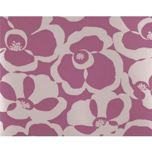 輸入壁紙 VILLA NOVA Makela Mono Wallpaper Orchid 花柄 パープル 紫 W530/07 クロス DIY 賃貸OK 貼ってはがせる decoall