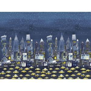 PICTUREBOOK W573-01 NYC パネルタイプ ニューヨークシティー 車 キッズ 子供部屋 絵本 輸入壁紙 貼って剥がせる 18m巻 300cm×300cm|decoall