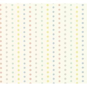 PICTUREBOOK W589-01 カラフル ペールトーン ドット 水玉 キッズ 子供部屋 絵本 クロス 貼って剥がせる 10m|decoall