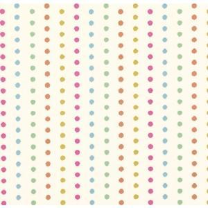 PICTUREBOOK W589-03 カラフル ビビット ドット 水玉 キッズ 子供部屋 絵本 クロス 貼って剥がせる 10m|decoall