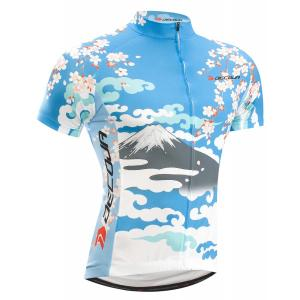 DECOJA  サイクルジャージ 半袖 桜富士(27110)【送料無料】サイクルウェア 自転車ウェア|decoja-sports