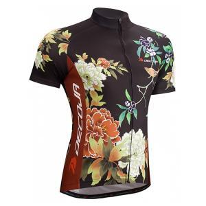 DECOJA サイクルジャージ 半袖 花鳥 (27176)【送料無料】サイクルウェア 自転車ウェア サイクルジャージ|decoja-sports