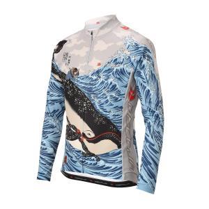 DECOJA サイクルジャージ 春夏用長袖 クジラ(30602)【送料無料】|decoja-sports