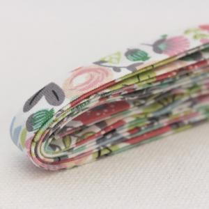 バイアステープ/12mm巾・ふちどり(4ツ折) 08 アールグレイフラワー 【2.5m巻】 【メール...