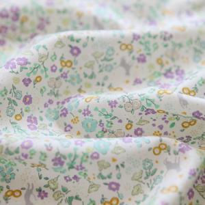 生地・布・入園入学 ≪ Play garden-lavender ≫ コットン/幅110cm 【10cm単位販売】|decollections