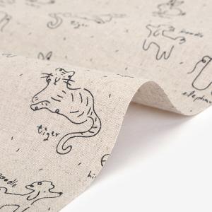 生地・布 ≪  Doodling - doodling ≫ ハーフリネン/幅148cm 【オリジナル生地】 【10cm単位販売】|decollections
