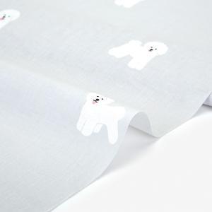 生地・布 ≪ Bichon frise ≫ ワイド幅コットン/幅158cm 【オリジナル生地】 【10cm単位販売】|decollections