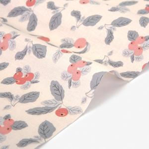 生地・布・入園入学 ≪ Apple farm pink ≫ コットン/幅109cm 【オリジナル生地】 【10cm単位販売】 |decollections