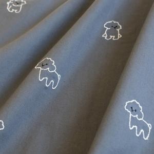 生地・布・刺繍・入園入学≪ Baby poodle ≫コットン/幅143cm【オリジナル生地】 【10cm単位販売】 |decollections