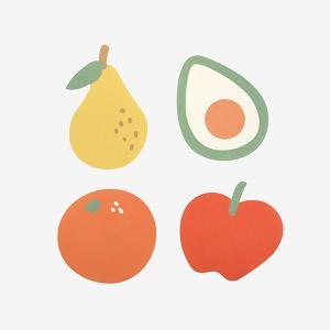 メッセージカード Market Card - 01 Fruits store 【メール便対応】 decollections