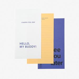 レターセット Message Letter - 01 Happy 【メール便対応】 decollections