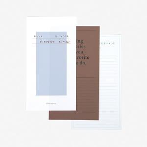 レターセット Message Letter - 04 Favorite thing 【メール便対応】 decollections