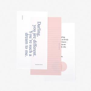 レターセット Message Letter - 05 Darling 【メール便対応】 decollections