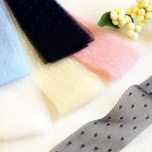 ソフトチュールリボンドット30mm巾 KIYOHARA 【2.1m巻】【メール便対応】|decollections