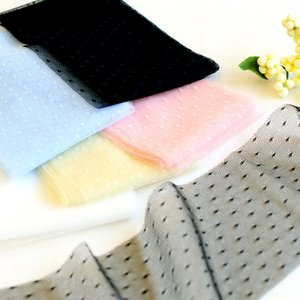 ソフトチュールリボンドット70mm巾 KIYOHARA 【2.1m巻】【メール便対応】|decollections