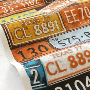 生地・布・入園入学 ≪ Number Plate - ブラウン ≫ オックス/幅110cm KOKKA/コッカ 【10cm単位販売】|decollections