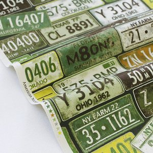 生地・布・入園入学 ≪ Number Plate - グリーン ≫ オックス/幅110cm KOKKA/コッカ 【10cm単位販売】|decollections